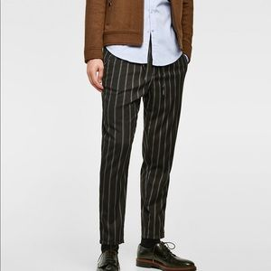 men's Zara cropped drawstring trouser